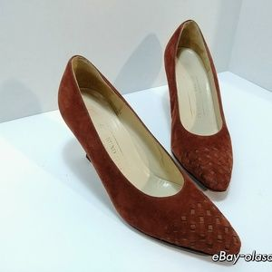 VINTAGE BRUNO MAGLI -Women's Suede Rust Pumps
